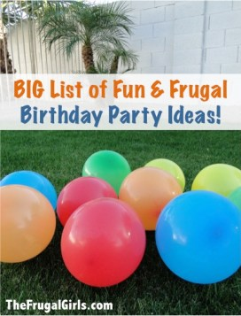 Birthday Party Ideas Frugal