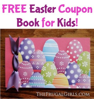 FREE Easter Coupon Book for Kids