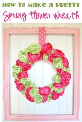 How to Make a Pretty Spring Flower Wreath