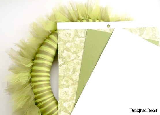 How to Tie Tulle on Wreath