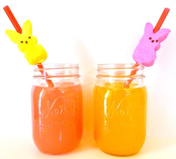 Peeps Straws for Easter Brunch
