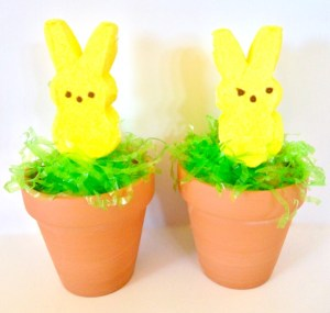 Peeps in a Pot Easter Table Favors