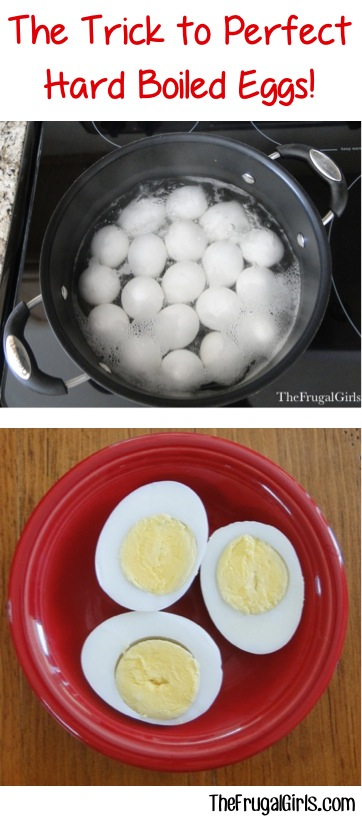 The Trick to Perfect Hard Boiled Eggs at TheFrugalGirls.com