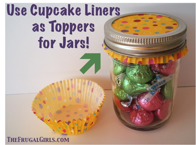 Gifts in a Jar Cupcake Liner