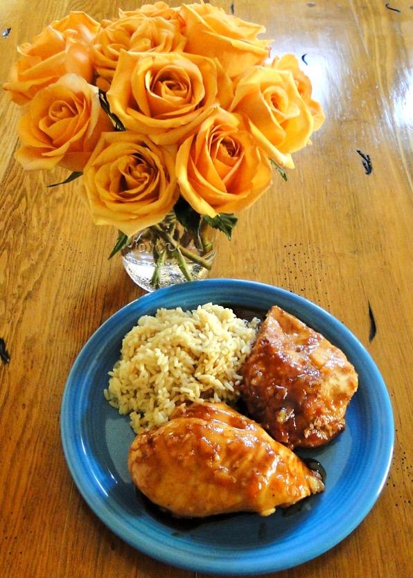 Crockpot Orange Chicken and Rice Recipe Easy
