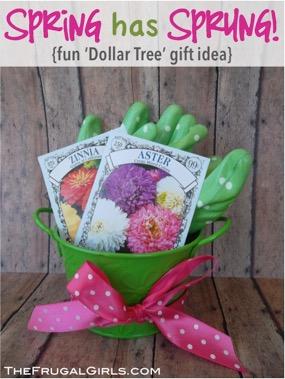 Gardening Gift Basket Idea from TheFrugalGirls.com