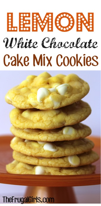 Lemon White Chocolate Cake Mix Cookies