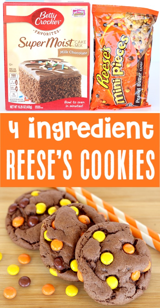Cake Mix Cookies Recipes Easy Chocolate Reese's Pieces Cookie Recipe