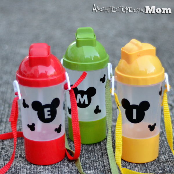 Mickey Mouse Water Bottle Craft