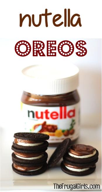 Nutella Oreos ~ from TheFrugalGirls.com