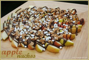 Peanut Butter Nutella Apple Nachos