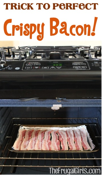 Trick to Perfect Crispy Bacon - at TheFrugalGirls.com