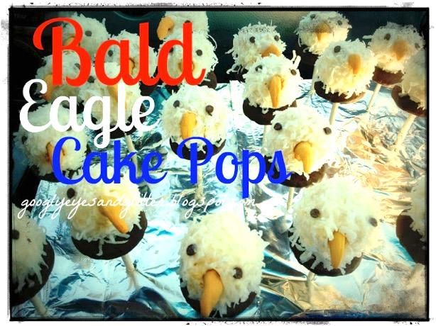 Bald Eagle Cake Pops at TheFrugalGirls.com