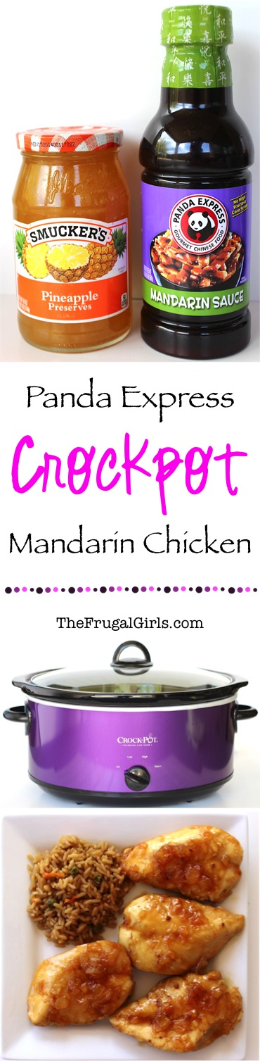 Easy Crockpot Mandarin Chicken Recipe from TheFrugalGirls.com