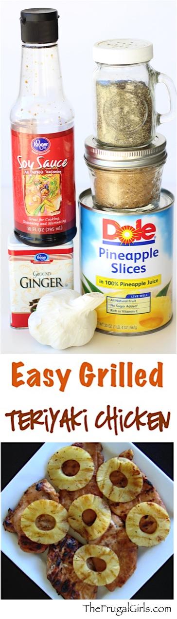 Easy Grilled Teriyaki Chicken Recipe - from TheFrugalGirls.com