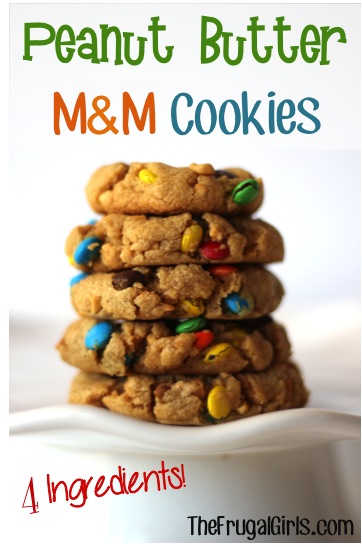 Peanut Butter M&M Cookie Recipe