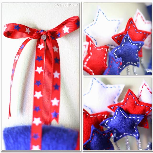 Star Spangled Wreath Craft