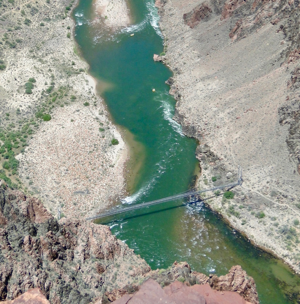 Colorado River at the bottom of the South Kaibab Trail, Grand Canyon from TheFrugalGirls.com