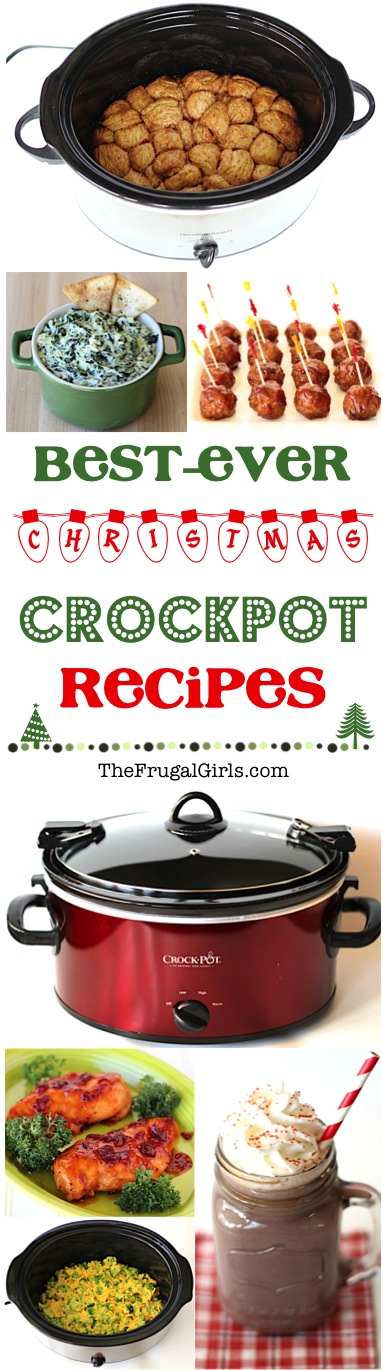 Christmas Crockpot Recipes at TheFrugalGirls.com