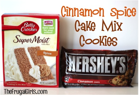 Cinnamon Spice Cake Mix Cookies at TheFrugalGirls.com