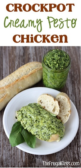Crockpot Creamy Pesto Chicken