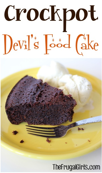 Crockpot Devil's Food Cake Recipe at TheFrugalGirls.com
