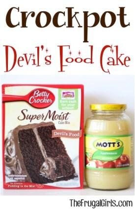 Crockpot Devil's Food Cake Recipe from TheFrugalGirls.com