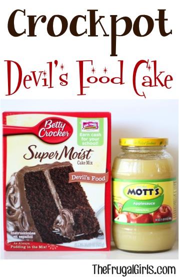 Crockpot Devils Food Cake Recipe from TheFrugalGirls.com