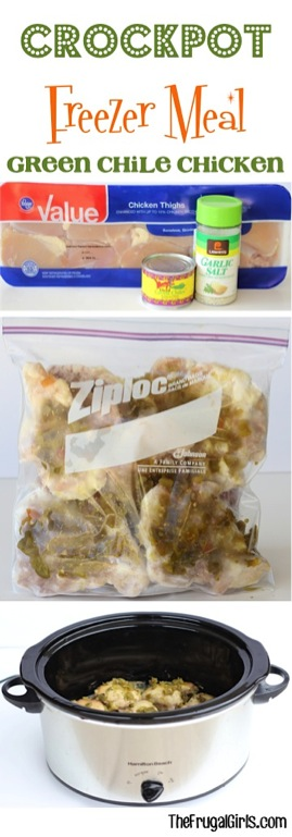 Crockpot Freezer Meal Green Chile Chicken