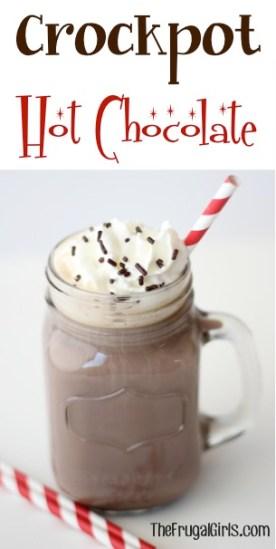 Crockpot Hot Chocolate Recipe at TheFrugalGirls.com