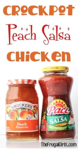 Crockpot Peach Salsa Chicken