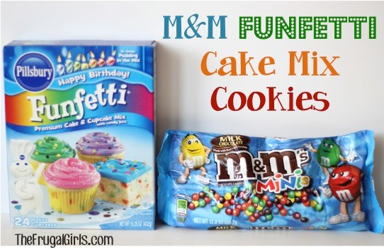 Funfetti Cookies from Cake Mix