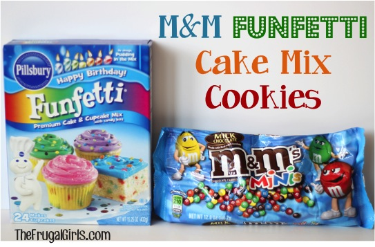 MM Funfetti Cake Mix Cookies