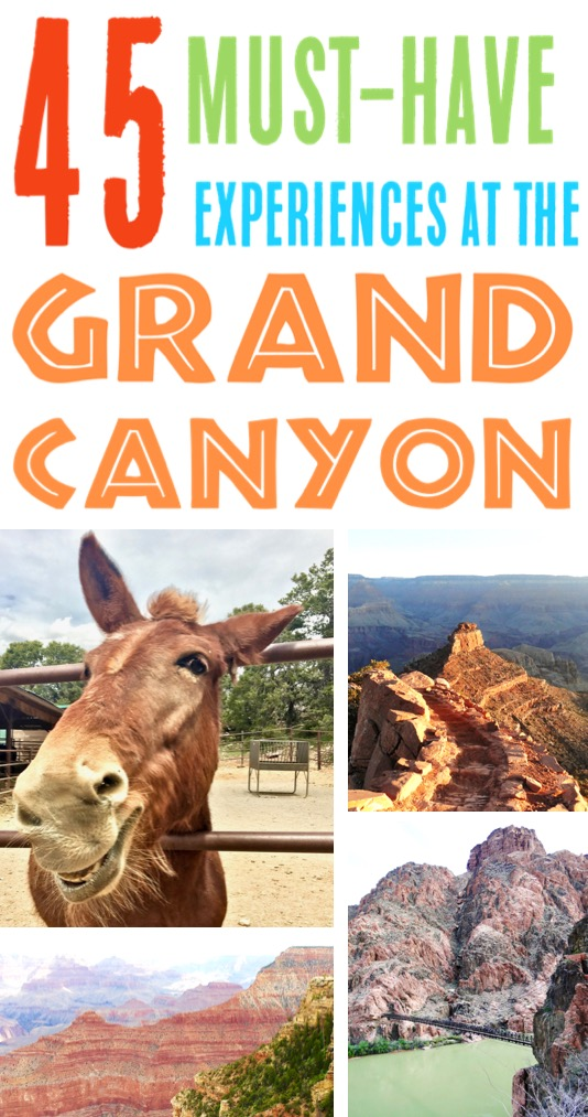 Grand Canyon Vacation Ideas for the South Rim and North Rim - Best Picture Ideas, Photography Spots, Hikes and More