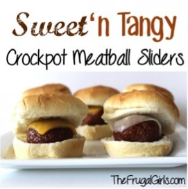 Sweet N Tangy Crockpot Meatball Sliders