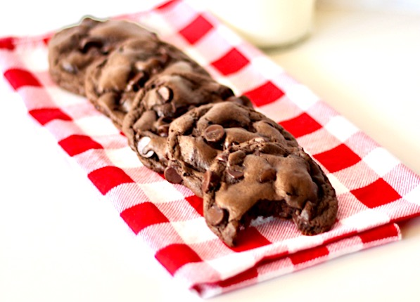 Triple Chocolate Fudge Cake Mix Cookie Recipe