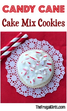 Candy Cane Cake Mix Cookie Recipe