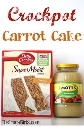 Crockpot Carrot Cake Recipe at TheFrugalGirls.com