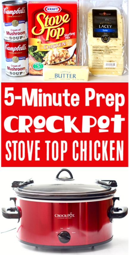 Crockpot Chicken and Stuffing Recipe Easy Meals