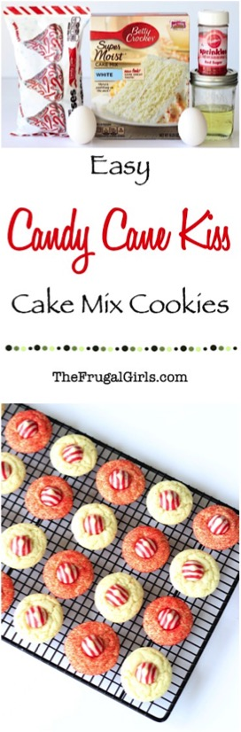 Easy Candy Cane Kiss Cookies Recipe
