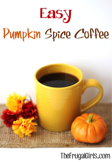 Easy Pumpkin Spice Coffee Recipe at TheFrugalGirls.com