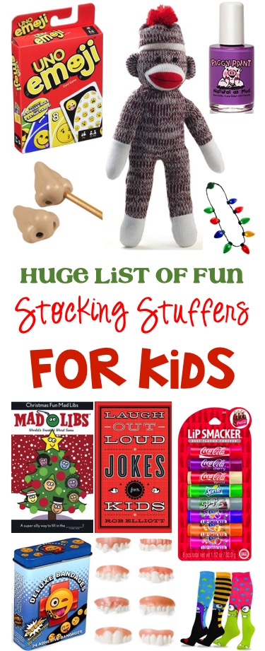 Huge List of Fun Stocking Stuffers for Kids