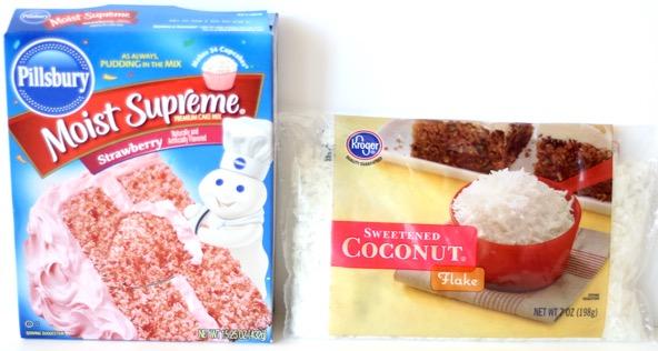 Strawberry Coconut Cake Mix Cookie Recipe