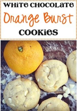 White Chocolate Orange Burst Cookies