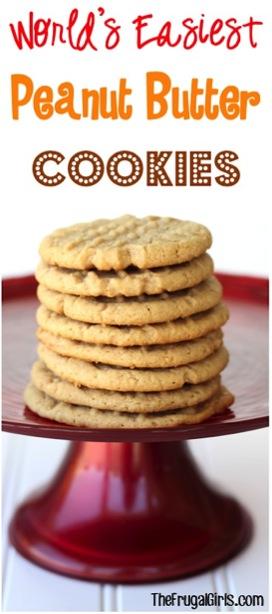 Worlds Easiest Peanut Butter Cookies