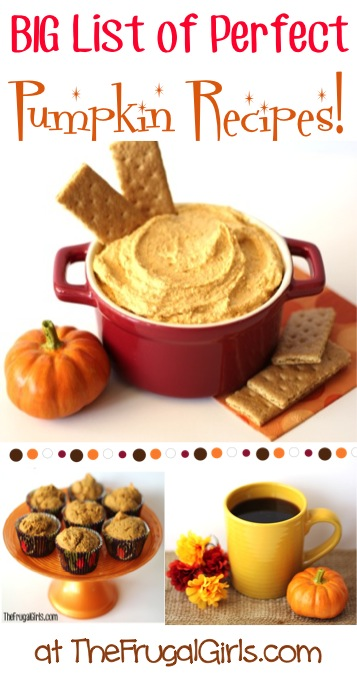 Easy Pumpkin Dessert Recipes at TheFrugalGirls.com