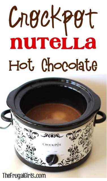 Crockpot Nutella Hot Chocolate Recipe at TheFrugalGirls.com