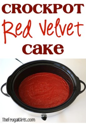 Crockpot Red Velvet Cake Recipe at TheFrugalGirls.com