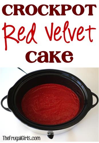 Crockpot Red Velvet Cake Recipe at TheFrugalGirls.com