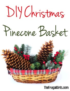 DIY Christmas Pinecone Basket